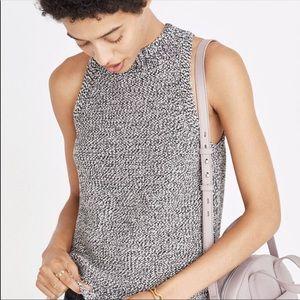NWT Madewell Marled mock neck sleeveless sweater